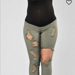 Pants - Maternity pants - Olive